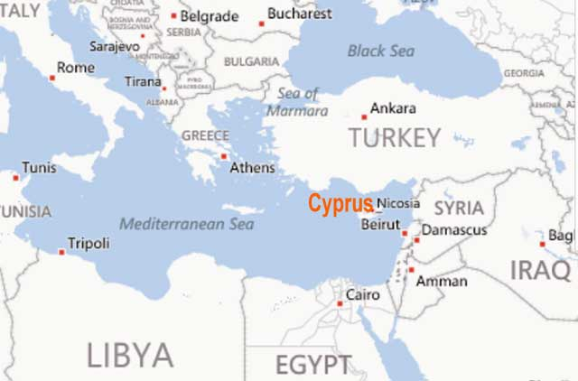Cyprus location where is cyprus north cyprus landform cyprus landform publicscrutiny Gallery