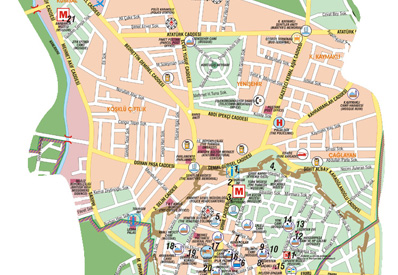 Northern Cyprus map road map of North Cyprus tourist city maps